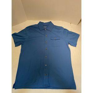 LL Bean Blue S/S Button Down Size L
